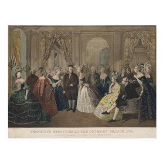 La recepción de Franklin en la corte de Francia Postal
