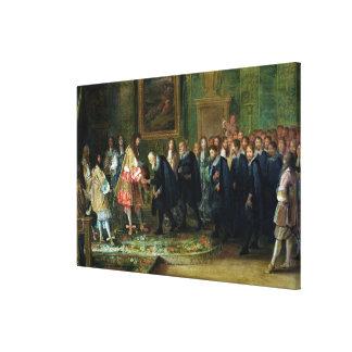La recepción de los embajadores lona envuelta para galerias