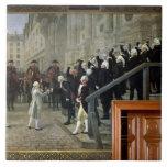 La recepción de Louis XVI en el hotel de Ville b Azulejos Cerámicos