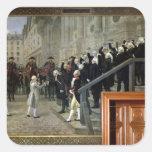 La recepción de Louis XVI en el hotel de Ville b Calcomania Cuadradas Personalizadas