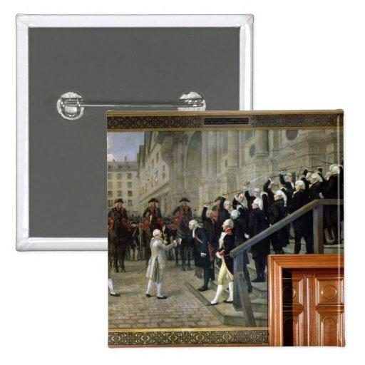 La recepción de Louis XVI en el hotel de Ville b Pin