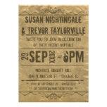 La recepción de Playbill del Grunge del vintage in Invitaciones Personalizada