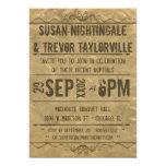 La recepción de Playbill del Grunge del vintage Invitaciones Personalizada