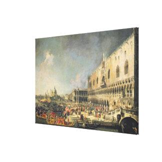 La recepción del embajador francés en Venecia Impresiones De Lienzo