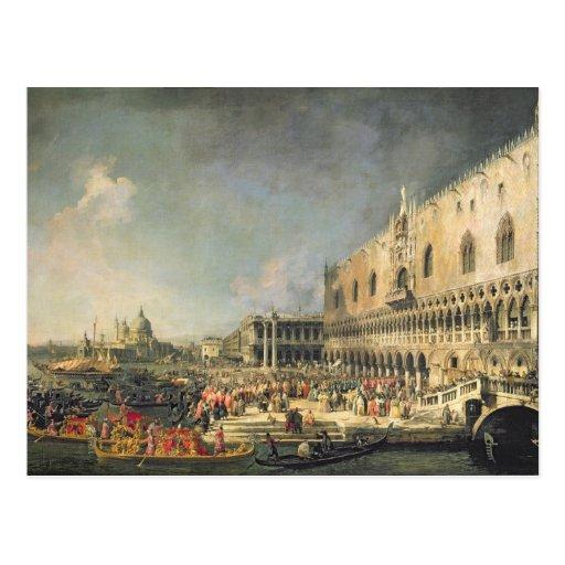 La recepción del embajador francés en Venecia, Tarjetas Postales