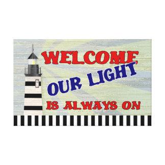 La recepción del faro nuestra luz está siempre en impresiones de lienzo