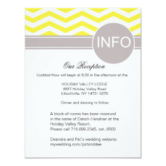 """La recepción elegante de Deandra Chevron detalla Invitación 4.25"""" X 5.5"""""""