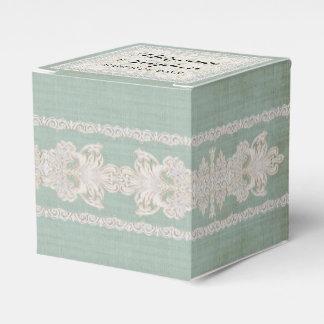 La recepción favorece el lino envejecido w rústico cajas para detalles de boda