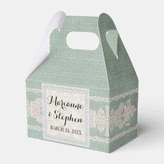 La recepción favorece el lino envejecido w rústico cajas para regalos de fiestas