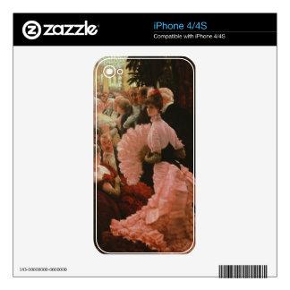 La recepción o, L'Ambitieuse (mujer política) c Calcomanías Para El iPhone 4S
