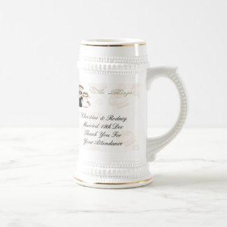 La recepción taza de café
