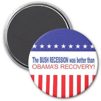 La recesión de Bush era mejor que Obama se recuper Imán De Nevera