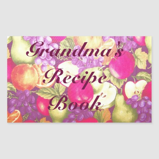 La receta o el este libro de la abuela pertenece a pegatina rectangular