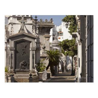 La Recoleta Cemetery in Buenos Aires Postcard