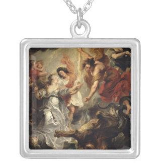 La reconciliación de Marie de Medici y ella Collar Plateado