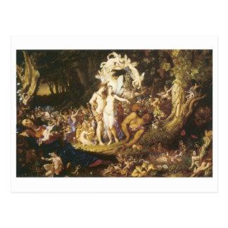 La reconciliación de Oberon y del Titania, 1847 Postal