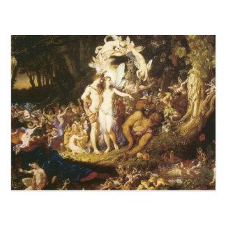 La reconciliación de Oberon y del Titania, 1847 Tarjeta Postal