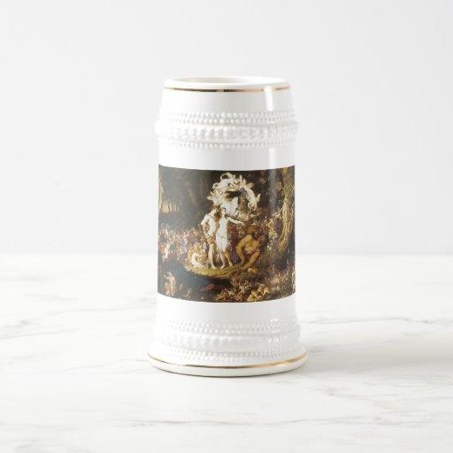 La reconciliación de Oberon y del Titania, 1847 Tazas De Café