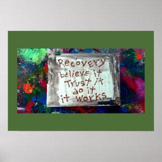 la recuperación cree que la confianza hace póster