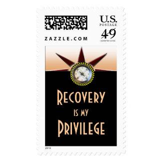 La recuperación es mi privilegio sellos postales