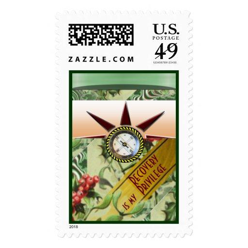 La recuperación es mi privilegio timbres postales