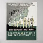 La recuperación es posible para mentalmente - la e posters