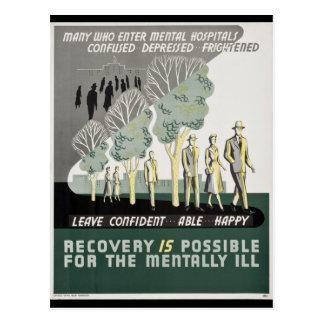 La recuperación es posible para mentalmente - la postal