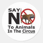 La red animal de la adopción del NEPA dice no al c Etiquetas Redondas