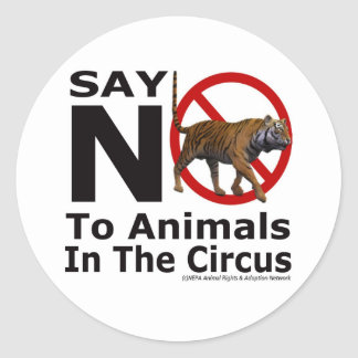 La red animal de la adopción del NEPA dice no al Pegatina Redonda