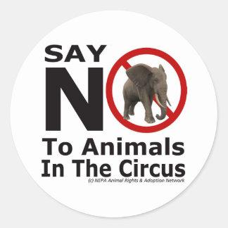 La red animal de la adopción del NEPA - diga no al Pegatina Redonda