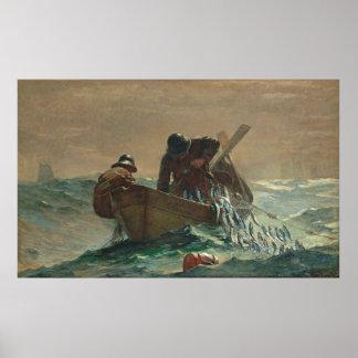 La red de los arenques por Winslow Homer Impresiones