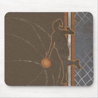 la red del chica del baloncesto raya el cojín de alfombrilla de ratón