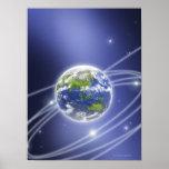 La red enciende la tierra circundante 2 póster