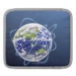 La red enciende la tierra circundante funda para iPads