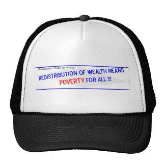 La redistribución de la riqueza significa gorras