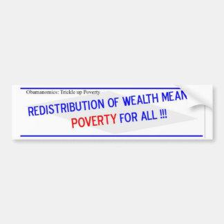 La redistribución de la riqueza significa pegatina para auto