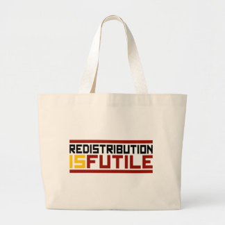 La redistribución es vana bolsas lienzo