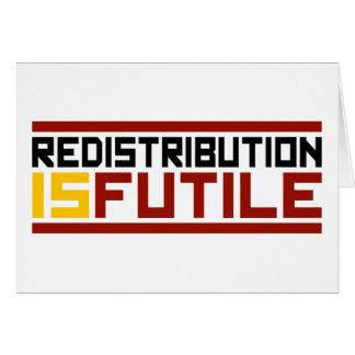 La redistribución es vana tarjeta de felicitación