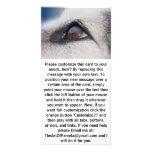 La reflexión de la luna en el ojo del perro tarjeta fotográfica