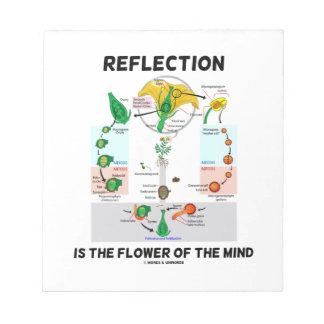 La reflexión es la flor de la mente (la libreta para notas