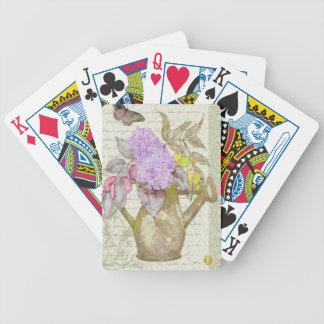 La regadera florece PlayingCards Barajas De Cartas
