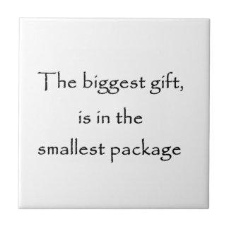 La regalo-teja más grande azulejo cuadrado pequeño