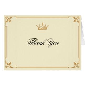 La regencia de la corona en oro y la marfil le tarjeta pequeña