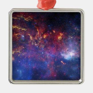 La región central de la galaxia de la vía láctea ornamentos para reyes magos