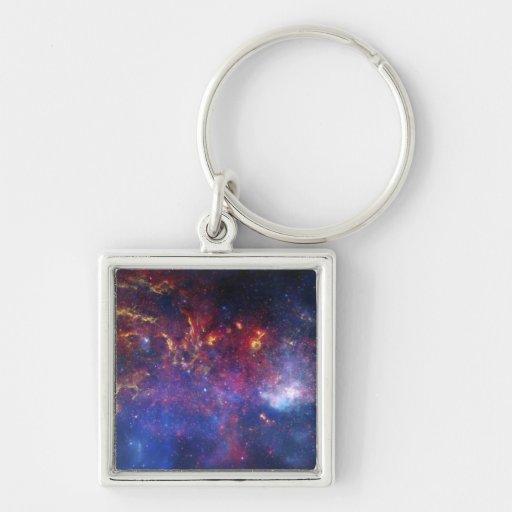 La región central de la galaxia de la vía láctea llavero personalizado
