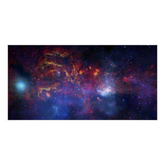 La región central de la galaxia de la vía láctea póster