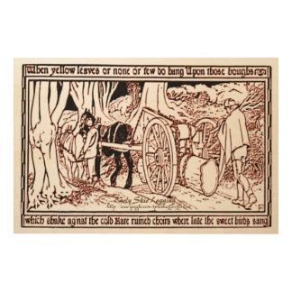 """La """"registración más temprana de la resbalón """" impresiones en madera"""