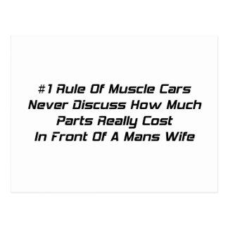 La regla #1 de coches del músculo nunca discute postal