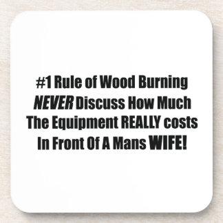 La regla 1 de madera que quema nunca discute cuán posavasos de bebidas