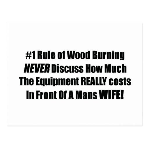 La regla #1 de madera que quema nunca discute cuán tarjeta postal